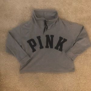 PINK Cropped Cowl Neck
